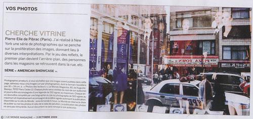 le monde pedp article Pierre Elie de Pibrac, artiste mabellephoto, est publié dans Le Monde Magazine