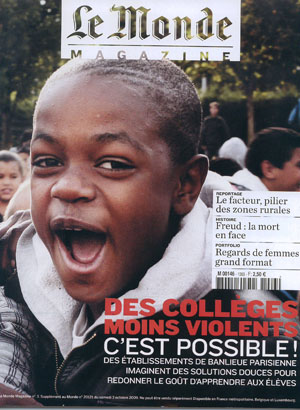 le monde pedp Pierre Elie de Pibrac, artiste mabellephoto, est publié dans Le Monde Magazine