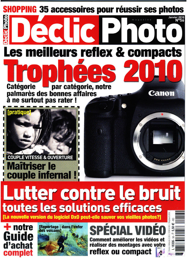 declic photo janvier 2010 couverture Le magazine Declic Photo expose le talent de photographes mabellephoto